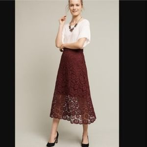 NWT Anthropologie HD in Paris Laced Artifact Skirt